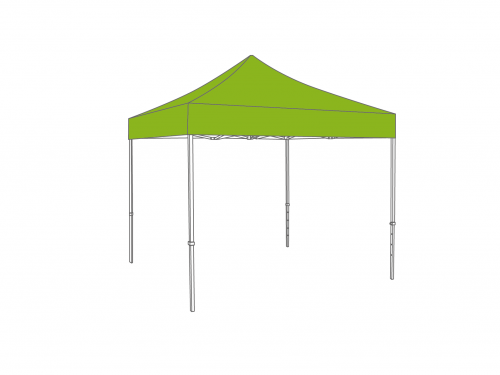 Folding tent aluminium frame and roof - 3x3m - Polyester
