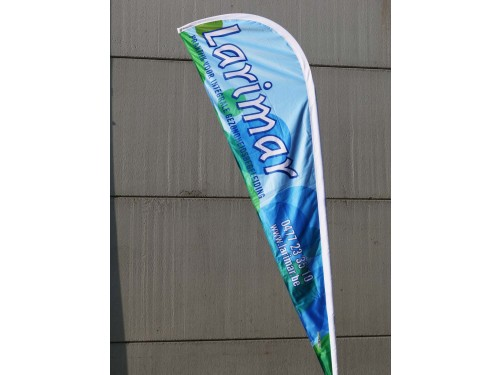 Eclipse flag double with pole and carry bag - medium