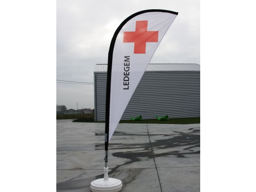 Eclipse flag single with pole and carry bag - small
