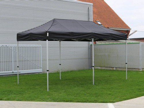 Folding tent aluminium frame and roof - 2,5x5m - Polyester